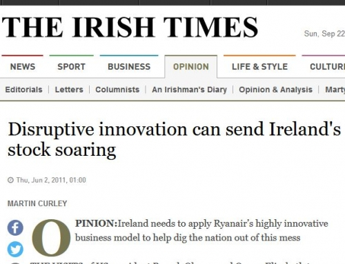 Irish Times Article Features Dr. Pierce's Disruptive Innovation